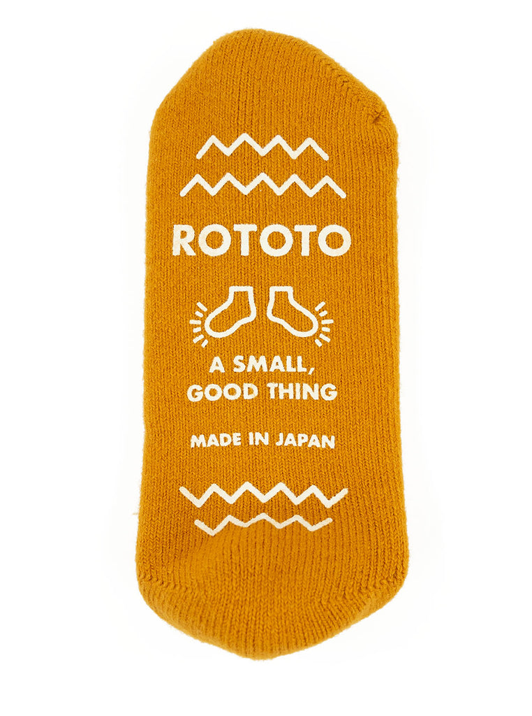 ROTOTO R1333 Pile Slipper Sock Yellow The Northern Fells Clothing Company Grip