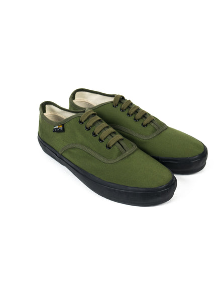 Reproduction of Found World War 2 Deck Shoe Olive Black Cordura The Northern Fells Clothing Company Side