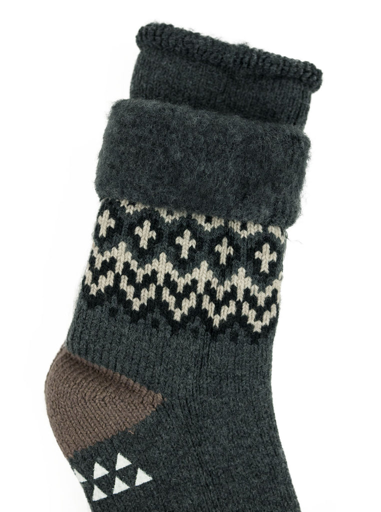 RoToTo Comfy Room Socks Nordic Charcoal Socks The Northern Fells Clothing Company Detail