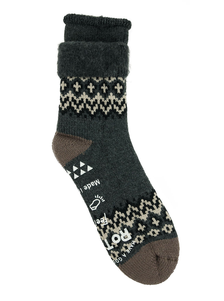 RoToTo Comfy Room Socks Nordic Charcoal Socks The Northern Fells Clothing Company Full