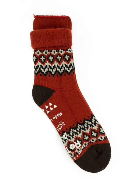 RoToTo Comfy Room Socks Nordic Red Socks The Northern Fells Clothing Company Full