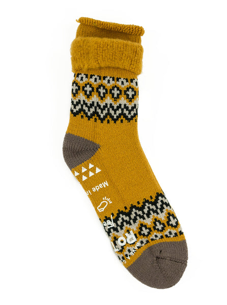 RoToTo Comfy Room Socks Nordic Yellow Socks The Northern Fells Clothing Company Full