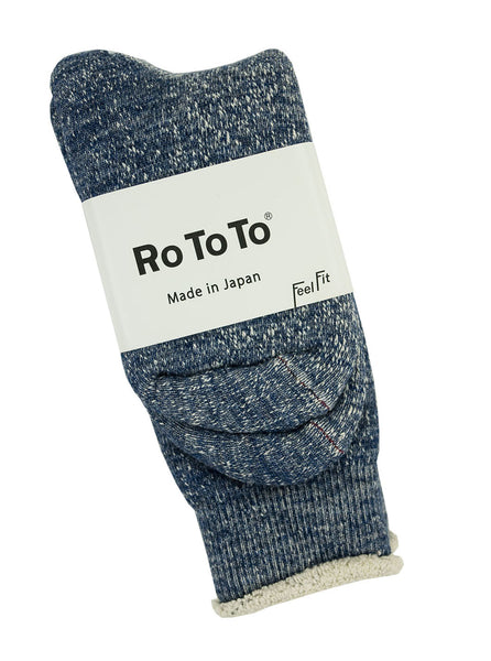 RoToTo - Double Faced Socks - Deep Ocean