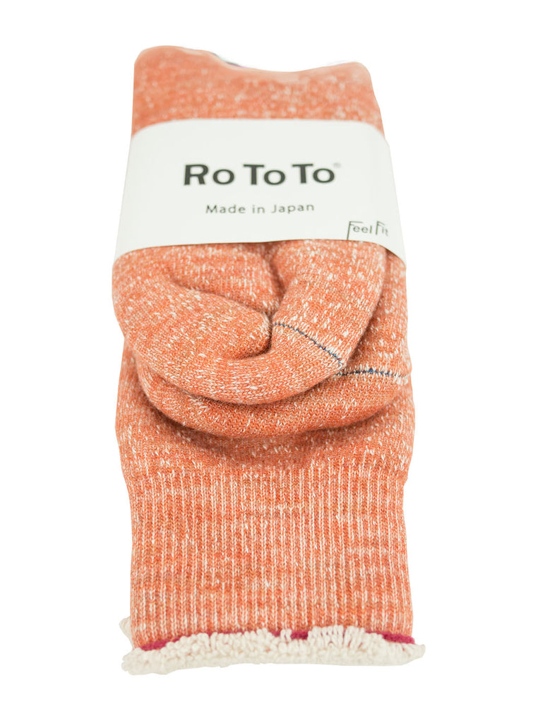 RoToTo - Double Faced Socks - Orange - Northern Fells