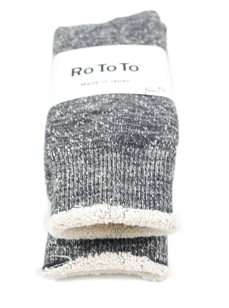 RoToTo - Double Faced Socks - Charcoal - Northern Fells