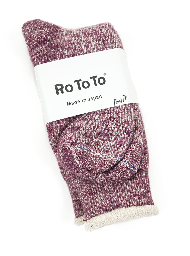 RoToTo Double Faced Socks R1054 Grape The Northern Fells Clothing Company Full