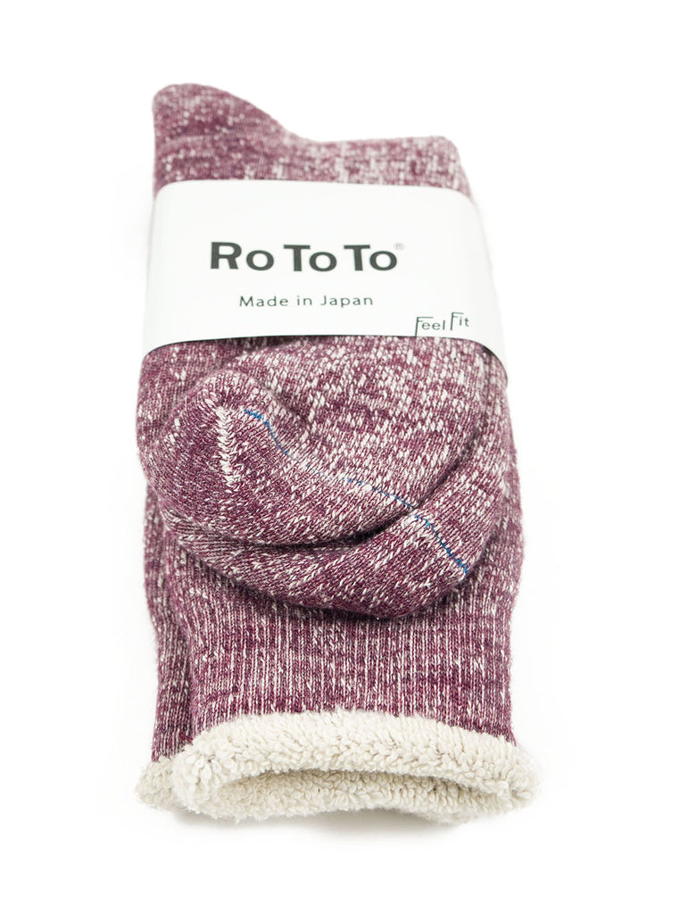RoToTo Double Faced Socks R1054 Grape The Northern Fells Clothing Company Inner