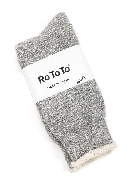 RoToTo Double Faced Socks R1054 Grey Marl The Northern Fells Clothing Company Full