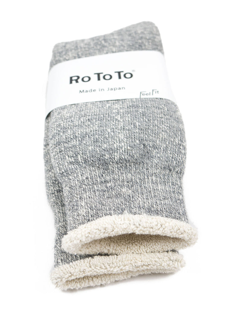 RoToTo - Double Faced Socks - Grey Marl - Northern Fells