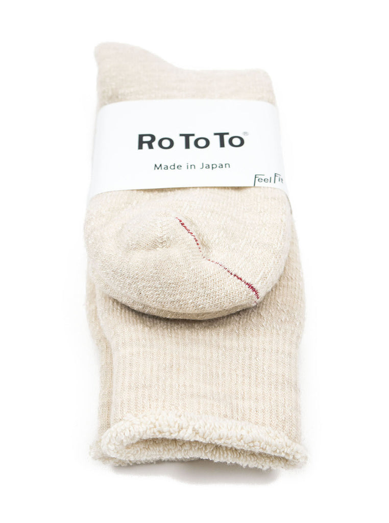 RoToTo - Double Faced Socks - Oatmeal - Northern Fells