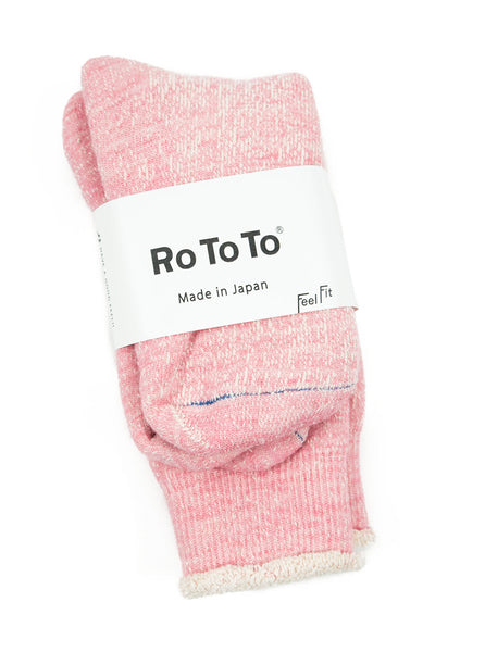 RoToTo - Double Faced Socks - Pink - Northern Fells