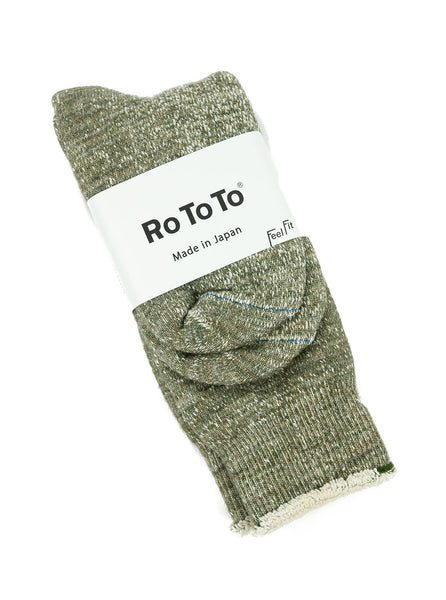 RoToTo Double Faced Socks RM1001 Army Green The Northern Fells Clothing Company Full