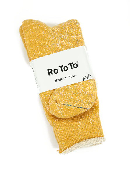 RoToTo - Double Faced Socks - Yellow - Northern Fells