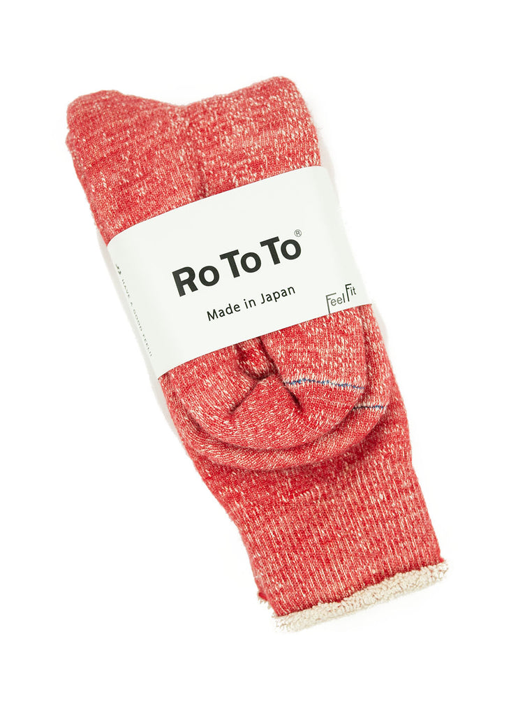 RoToTo - Double Faced Socks - Red - Northern Fells