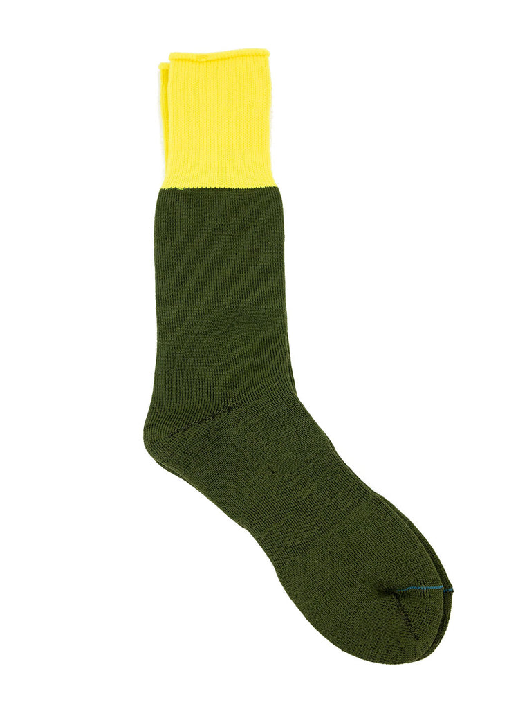 RoToTo Yoo-Hoo Neon Yellow Olive R1124 The Northern Fells Clothing Company Flat