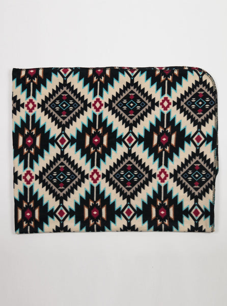 Rockmount Ranchwear - Native Indian Print Fleece Blanket - White/ Multi - Northern Fells