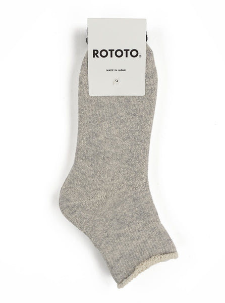 RoToTo - Double Faced Ankle Socks - Grey