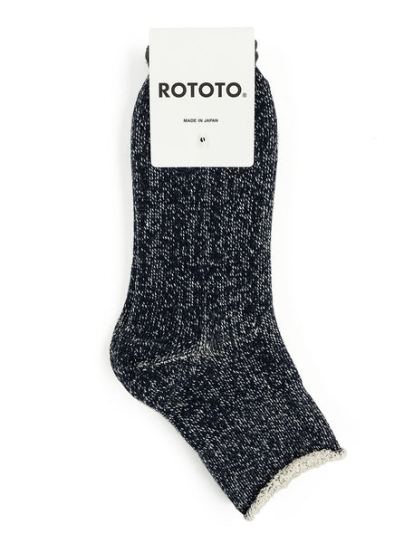 RoToTo - Double Faced Ankle Socks - Navy