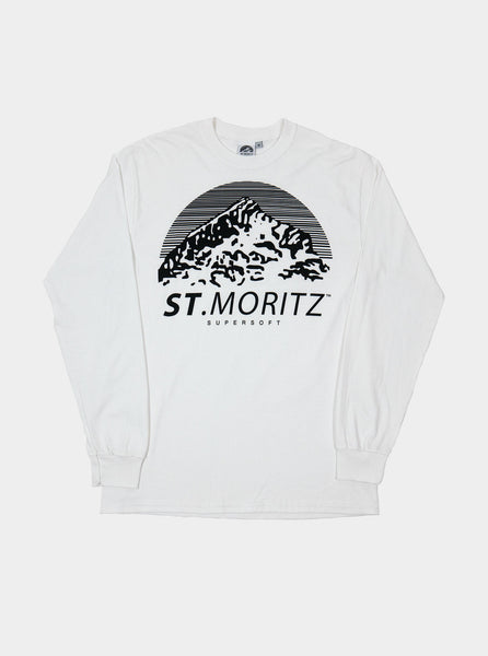 St. Moritz SuperSoft - Classic Logo Long Sleeve T-Shirt - White - Northern Fells