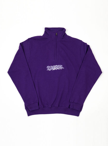 St. Moritz Supersoft - Half Zip Script Sweatshirt - Purple - Northern Fells