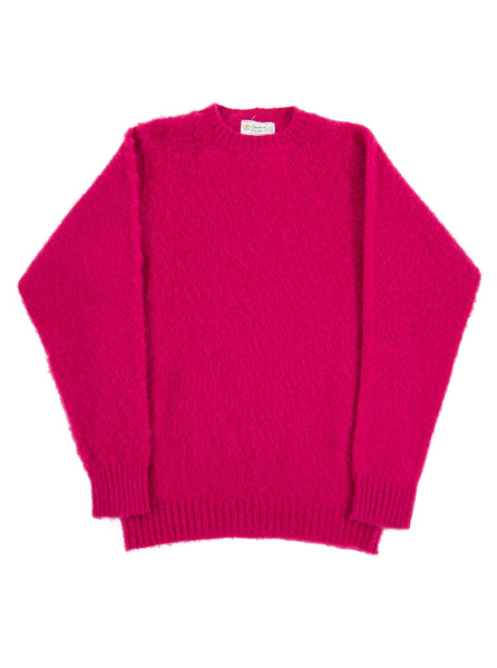 Shetland Woolens Shaggy Dog Cerise The Northern Fells Clothing Company Full