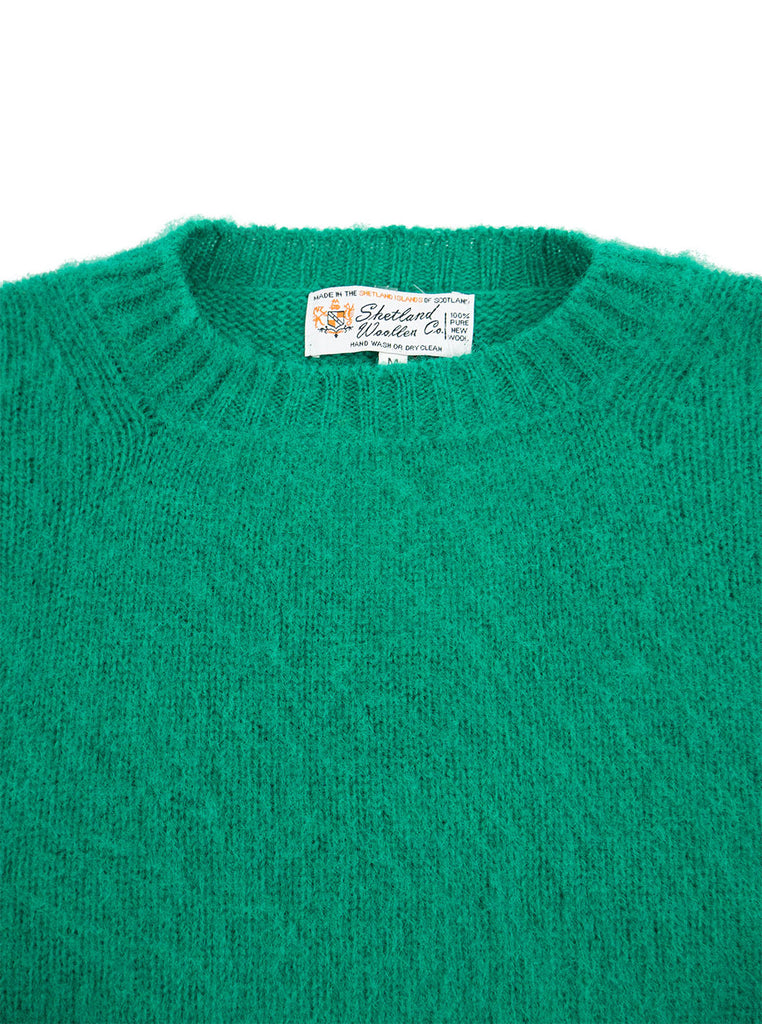 Shetland Woolens Shaggy Dog Mint The Northern Fells Clothing Company Neck