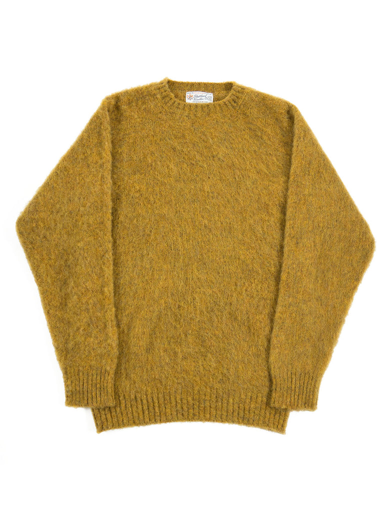 Shetland Woolens Shaggy Dog Mustard The Northern Fells Clothing Company Full