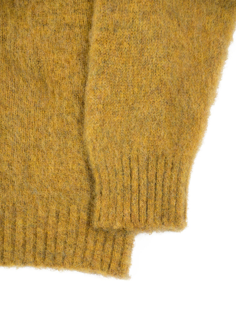 Shetland Woolens Shaggy Dog Mustard The Northern Fells Clothing Company Sleeve