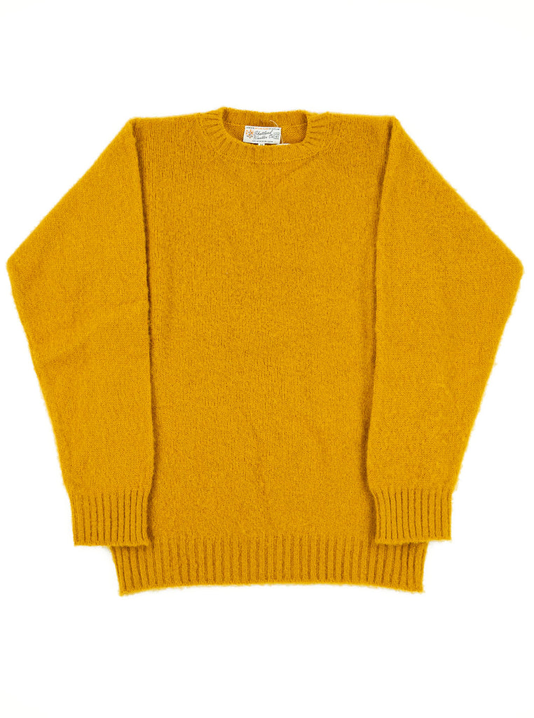 Shetland Woollen Company Shaggy Dog Mustard Made in Scotland The Northern Fells Clothing Company Full