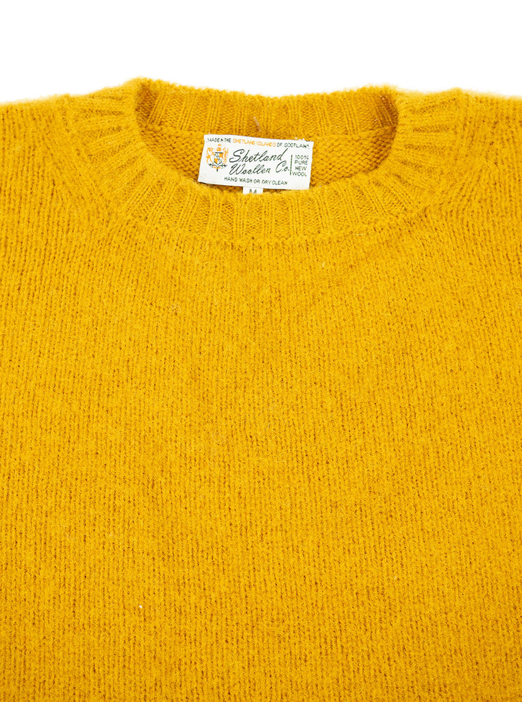 Shetland Woollen Company Shaggy Dog Mustard Made in Scotland The Northern Fells Clothing Company Neck