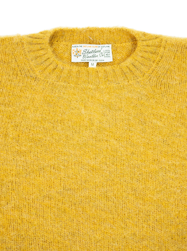Shetland Woollen Company Shaggy Dog Scotch Broom Made in Scotland The Northern Fells Clothing Company Neck