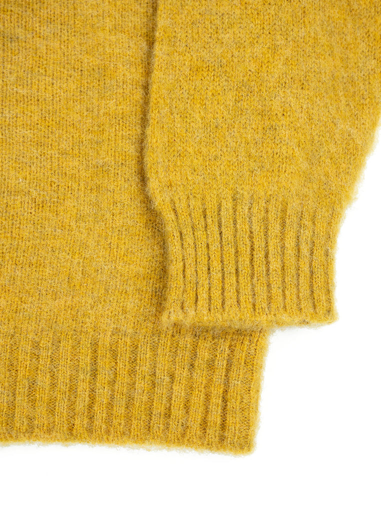 Shetland Woollen Company Shaggy Dog Scotch Broom Made in Scotland The Northern Fells Clothing Company Sleeve