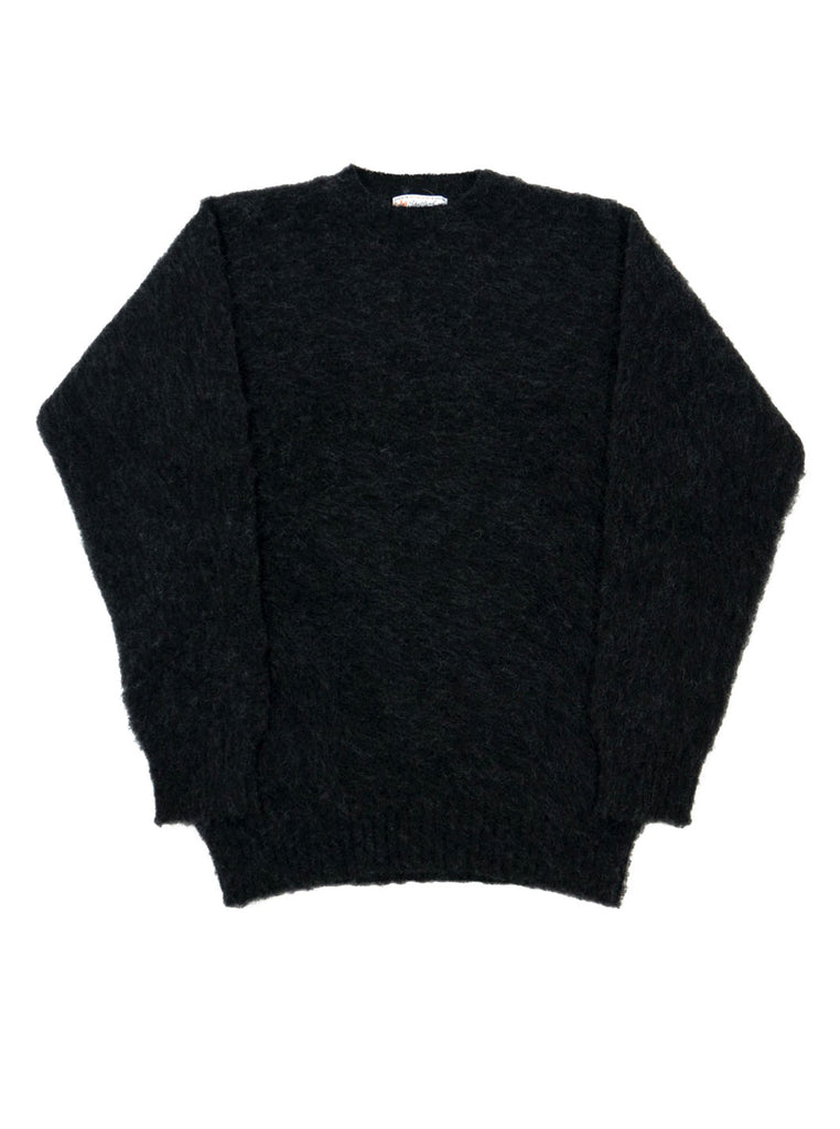 Shetland woollen Knitwear Shaggy's Charcoal Grey The Northern fells clothing company main