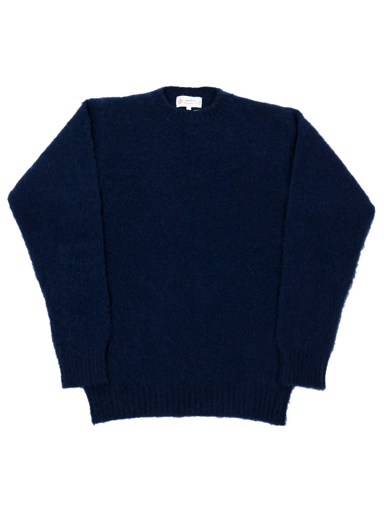 Shetland woollen Knitwear-Shaggy's Navy The Northern fells clothing company main
