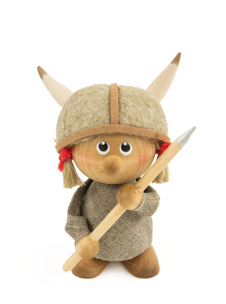 SKANDINAVISK HEMSLÖJD - VIKING GIRL - WOODEN FIGURE - Northern Fells