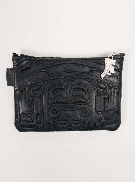 Spirit of the Wild - Leather Purse - Black - Northern Fells