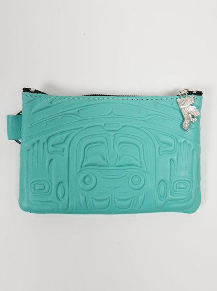 Spirit of the Wild - Deer Skin Purse - Teal - Northern Fells