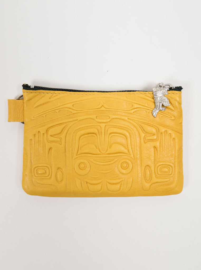 Spirit of the Wild - Leather Purse - Yellow - Northern Fells