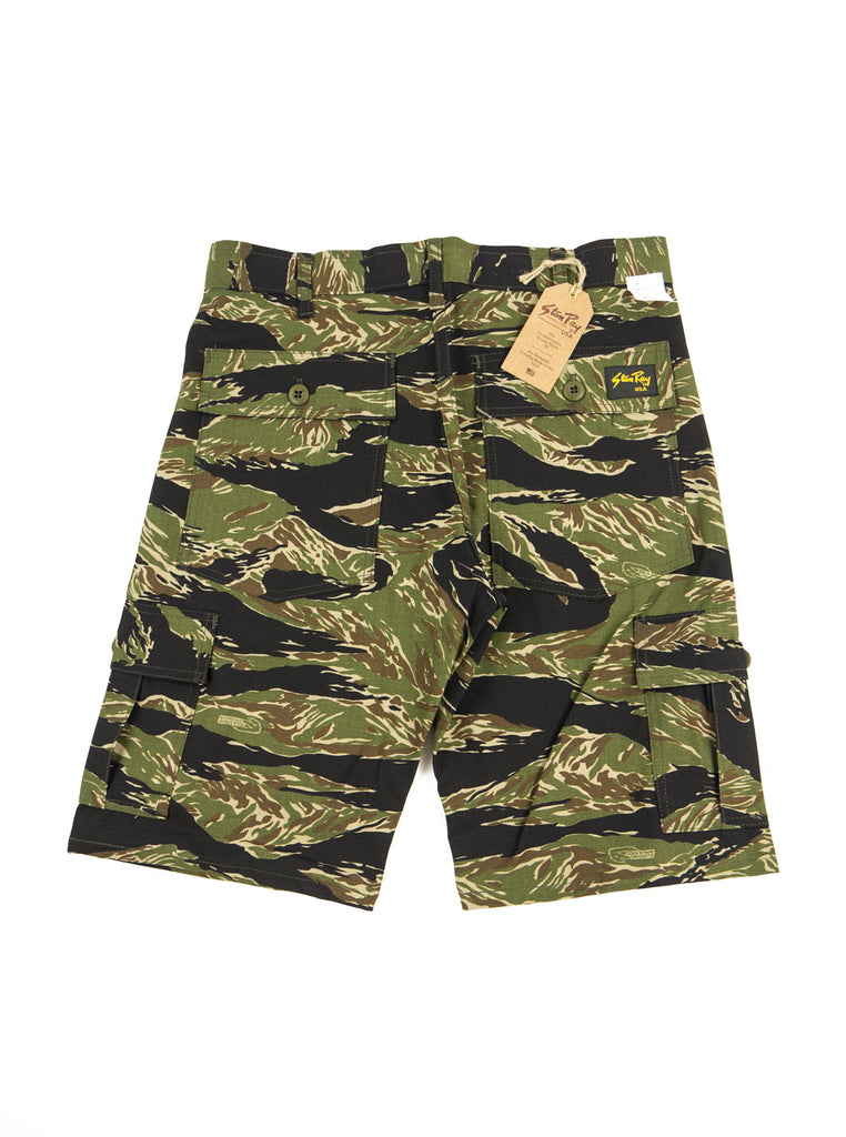 Stan Ray 5600 Cargo Short Green Tigerstripe Ripstop The Northern Fells Clothing Company Back