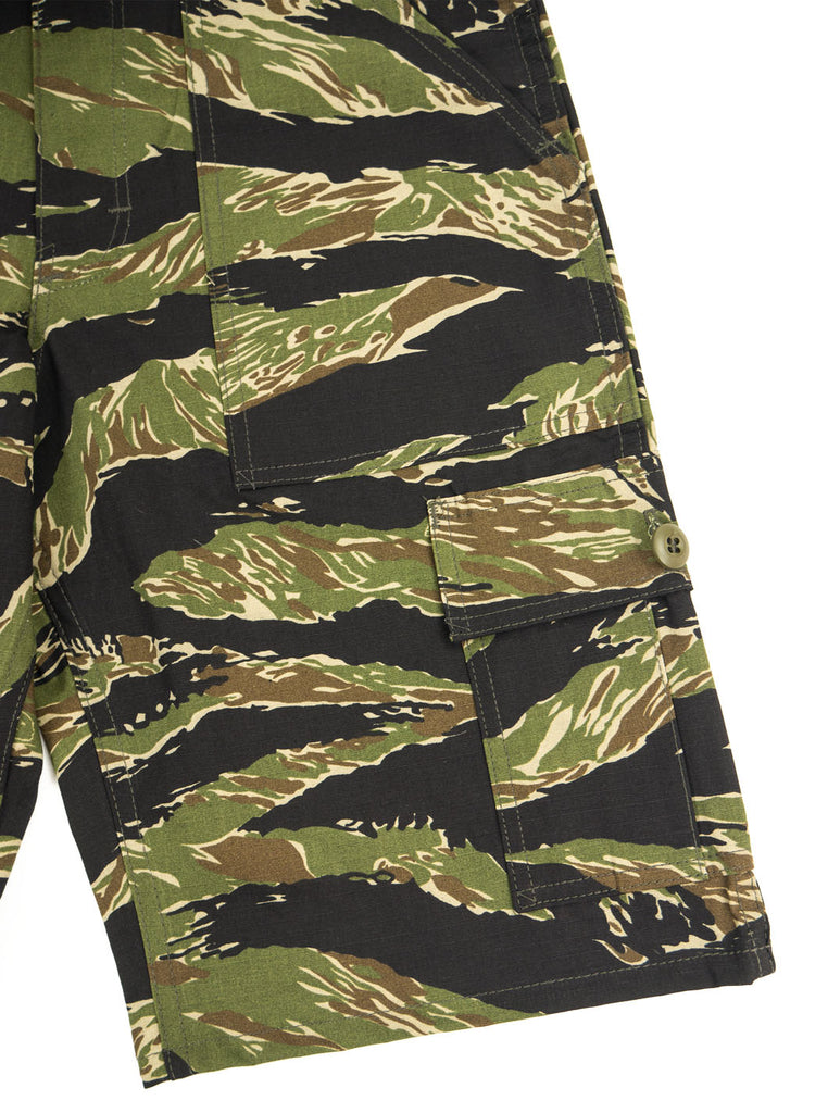 Stan Ray 5600 Cargo Short Green Tigerstripe Ripstop The Northern Fells Clothing Company Cargo Pocket