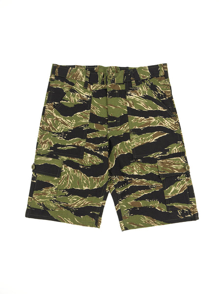 Stan Ray 5600 Cargo Short Green Tigerstripe Ripstop The Northern Fells Clothing Company Full