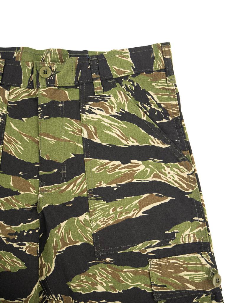 Stan Ray - Cargo Short - Green Tigerstripe Ripstop - Northern Fells