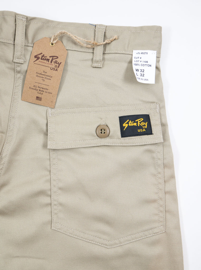 Stan Ray Original Fit Fatigue Pant Khaki Twill AW1108 The Northern Fells Clothing Company Detail