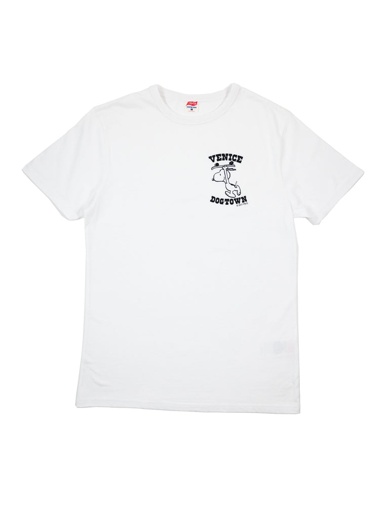 TSPTR 715A Snoopy Venice Dogtown White T-Shirt The Northern Fells Clothing Company Full