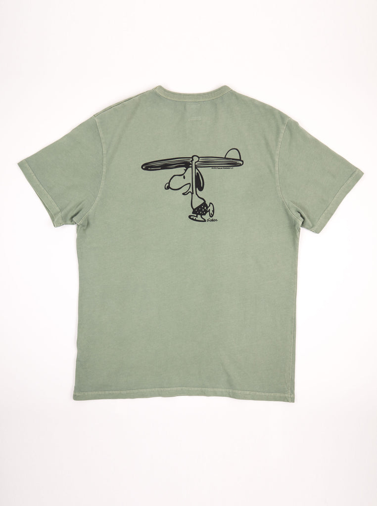 TSPTR 817C Surfs up Faded Olive T Shirts The Northern Fells Clothing Company Back