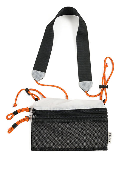 Taikan Sacoche White Black Orange Small The Northern Fells Clothing Company Full
