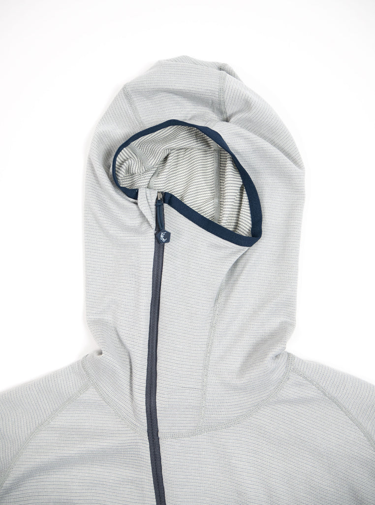 Teton Bros Powerwool Lite Hoodie Grey The Northern Fells Clothing Company Zipped