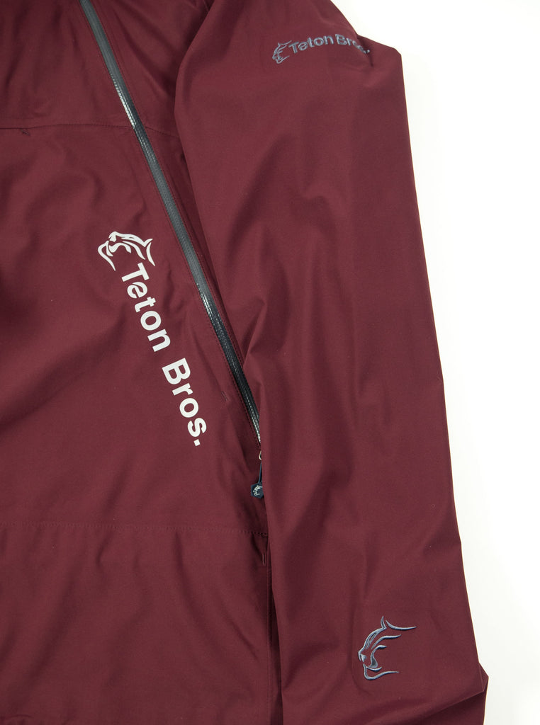 Teton Bros. Tsurugi Pullover Jacket Dark Red The Northern Fells Clothing Company Detail
