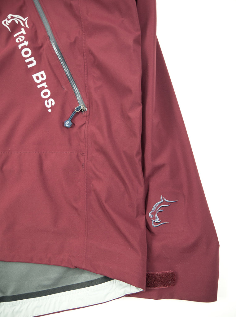 Teton Bros. Tsurugi Pullover Jacket Dark Red The Northern Fells Clothing Company Sleeve