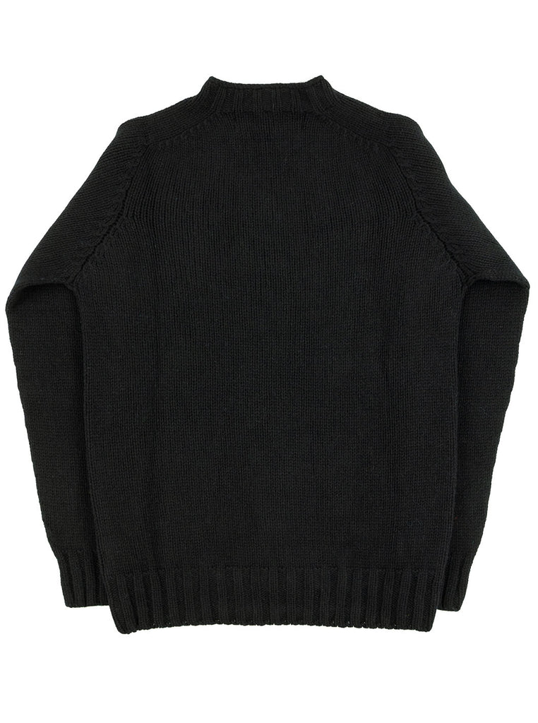 The Northern Fells Clothing Company Cable Knit Sweater Made in Scotland Black Back